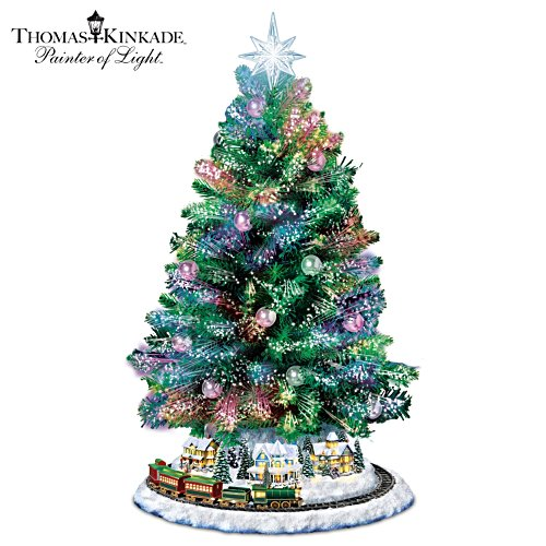 Thomas Kinkade Holiday Sparkle Christmas Tabletop Tree