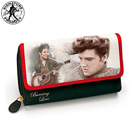 """Elvis Presley """"Burning Love"""" Women's Tri-Fold Wallet"""