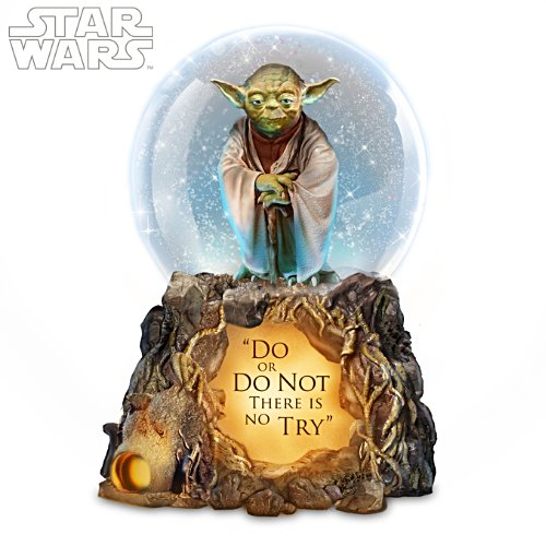 Jedi Master Yoda Illuminated Snow Globe With Lights & Music