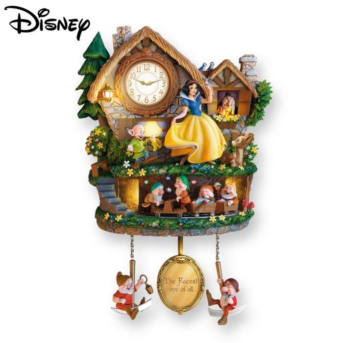 Disney Snow White 'Hidden Treasure' Cuckoo Clock