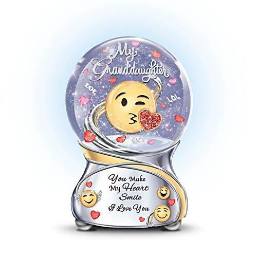 Granddaughter, You Make My Heart Smile Musical Glitter Globe