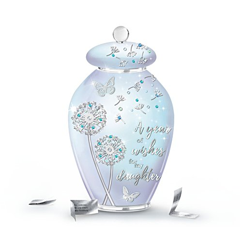 'Loving Wishes For My Daughter' Heirloom Porcelain® Musical Jar