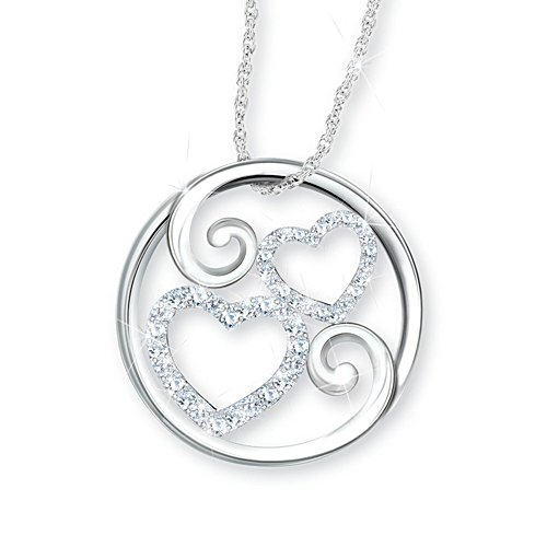"""Forever Mother & Daughter"" Diamond Pendant Necklace"