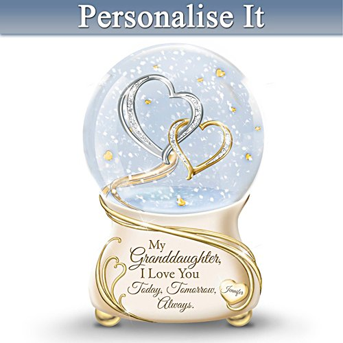 Granddaughter, I Love You Personalised Musical Snow Globe