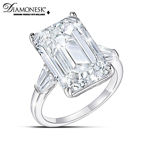"""Perfection"" Emerald Cut Diamonesk Simulated Diamond Ring"