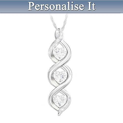 """Always My Daughter"" Personalised Pendant with Diamonds"