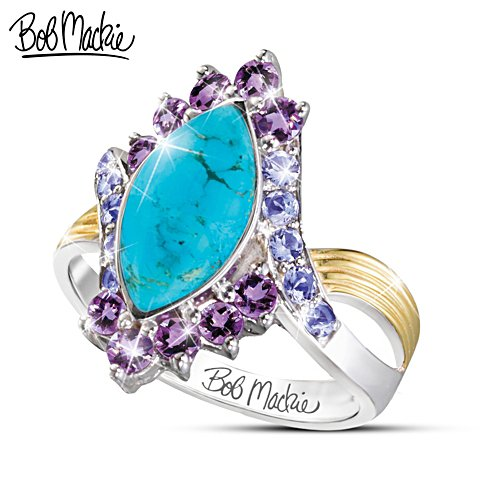 "Bob Mackie ""Turquoise Majesty"" Women's 3 Carat Gemstone Ring"