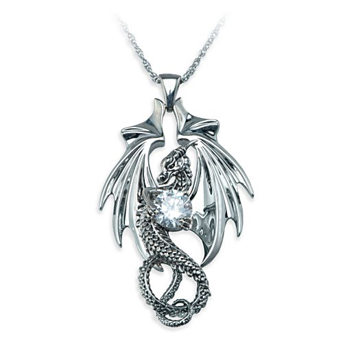 """Fire And Ice"" Crystal Dragon Pendant Necklace"