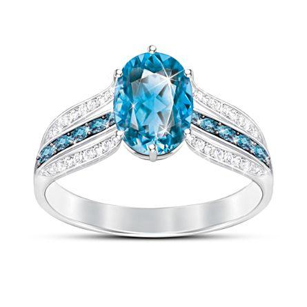 'Twilight Lustre' London Blue Topaz Ladies' Ring