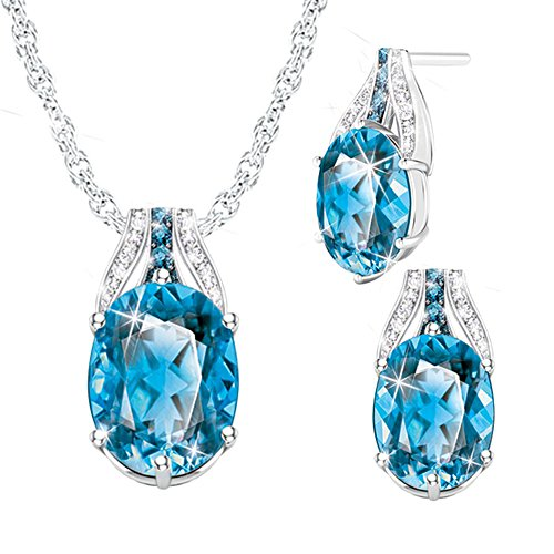 'Twilight Luster' Topaz Pendant & Earrings Set