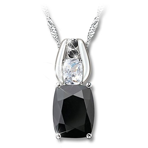 Black Spinel And White Topaz Necklace