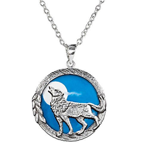"""Call of the Wild"" Glow-in-the-Dark Sterling Silver Pendant"