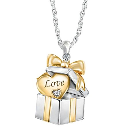 """Grandma's Greatest Gift"" Diamond Pendant Necklace"