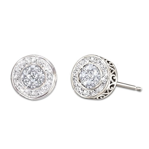 All That Glamour' Diamond Earrings: Choose From Four Sets