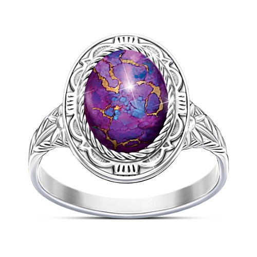 """Santa Fe Sunrise"" Women's Purple Mojave Turquoise Ring"