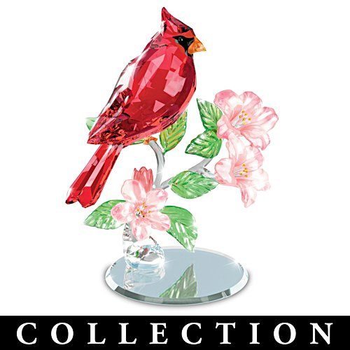 """Nature's Sparkling Songbirds"" Faceted Glass Sculpture Collection"