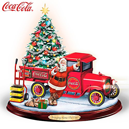 """Bringing Home The Tree"" Lighted Musical COCA-COLA Sculpture"