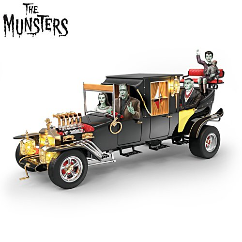 """The Munsters Family Koach"" Illuminated Musical Sculpture"