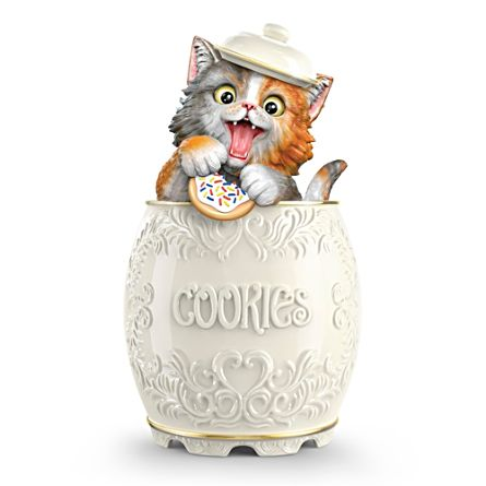 "Kayomi Harai ""The Purr-fect Treat"" Ceramic Kitty Cookie Jar"