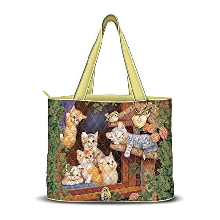 Jürgen Scholz Cat Season Quilted Tote Spring Edition
