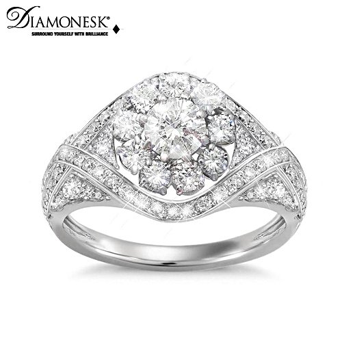 """Royal American Rose"" Meghan Markle-Inspired Diamonesk Ring"