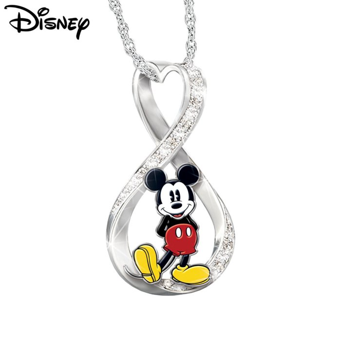 a95fcc4d429 Disney Mickey Mouse Infinity Necklace With Collector Cards