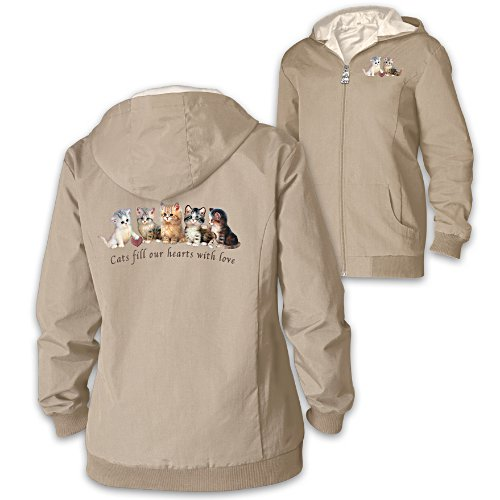 "Jurgen Scholz ""Kitten Love"" Reversible Women's Jacket"