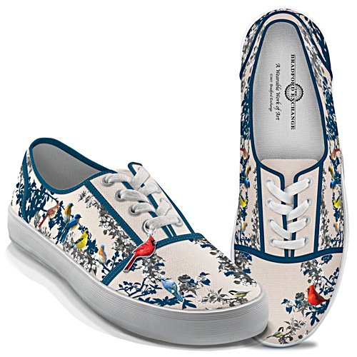 "James Hautman ""Songs Of Spring"" Canvas Shoes With Bird Charm"