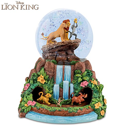 "Disney ""The Lion King"" Rotating Musical Glitter Globe"