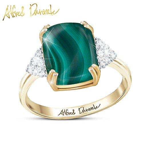 Alfred Durante Majestic Malachite And Diamond Women's Ring