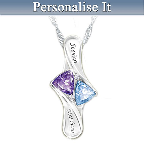 """Love's Promise"" Personalised Birthstone Pendant Necklace"