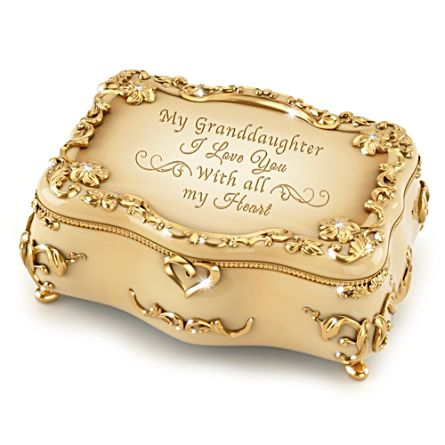 'Granddaughter, I Love You' Gold-Plated Music Box