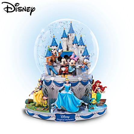 "Disney ""Magical Moments"" Rotating Musical Glitter Globe"
