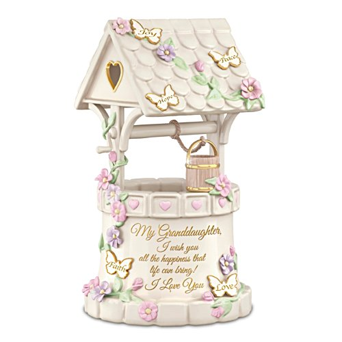 "Granddaughter ""I Wish You Love"" Wishing Well Music Box"