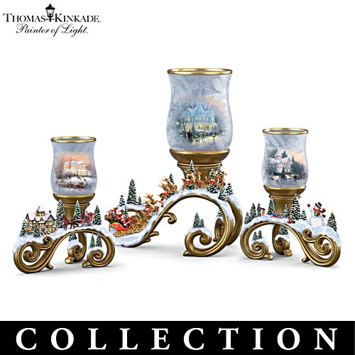 Thomas Kinkade 'Bright Holiday Memories' Frosted Votive Collection