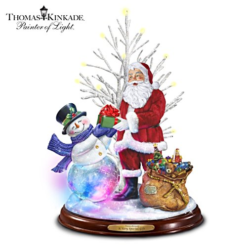 Thomas Kinkade A Very Special Gift Lighted Musical Sculpture