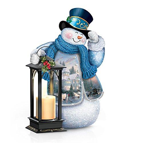 Weiße Weihnachtswünsche – Schneemannfigurine