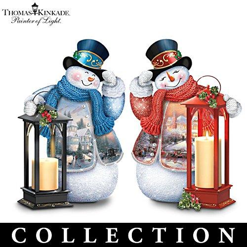Thomas Kinkade Lighted Musical Snowman Lantern Collection