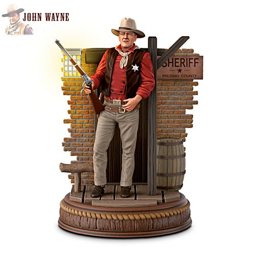 John Wayne: Silver Screen Legend Lighted Figurine