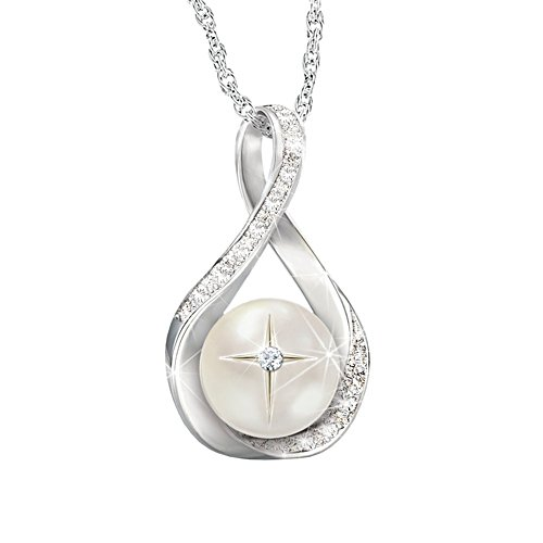 """God's Pearl Of Wisdom"" Diamond Pendant Necklace"