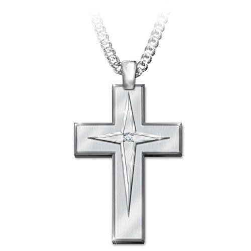 'Blessed Son' Stainless Steel Pendant & Valet Box