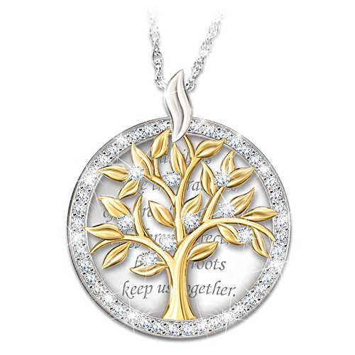 """Our Family Tree"" Pendant Necklace"