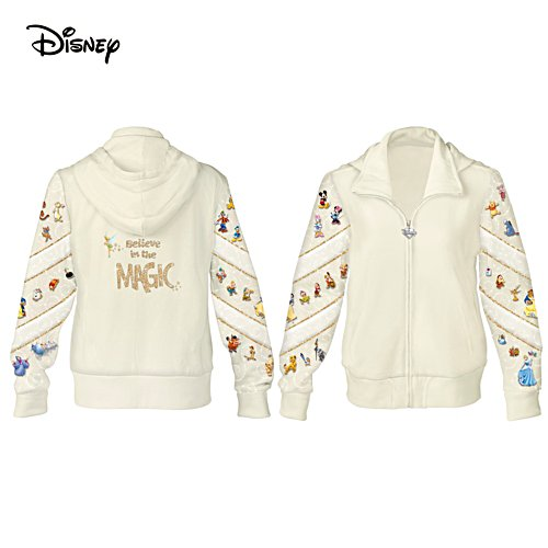 """Believe In The Magic"" Disney Women's Cotton-Blend Hoodie"