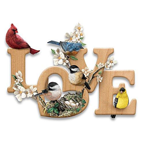 'LOVE In Bloom' Songbird Wall Décor