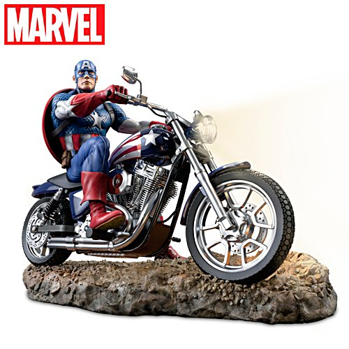 MARVEL CAPTAIN AMERICA Illuminated Masterpiece Sculpture