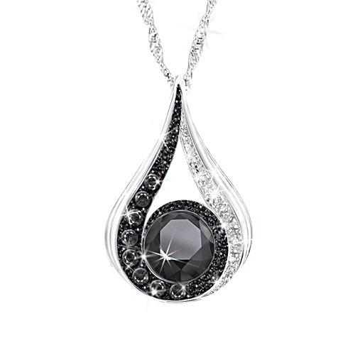 Together We Rise Engraved Swarovski Crystal Pendant Necklace