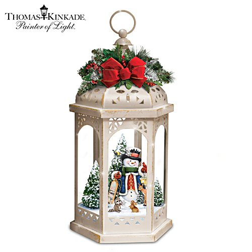 Thomas Kinkade Winter in a Wonderland Illuminating Masterpiece Lantern