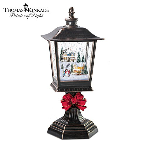 Thomas Kinkade Illuminated Musical Snowglobe Holiday Lantern