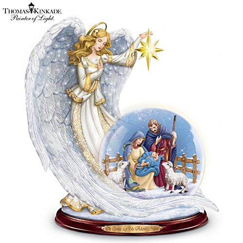Guiding Light Illuminated Nativity Snowglobe
