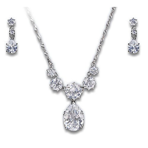 Coronation Celebration Diamonesk Pendant and Earrings